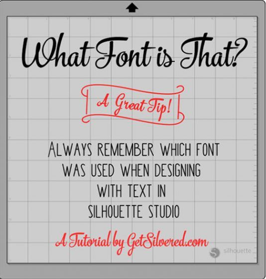 Designing with Text in Silhouette Studio- remember that font