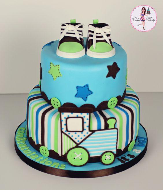 Baby shower cake. boy. tarta para fiesta de anuncio del sexo de tu ...