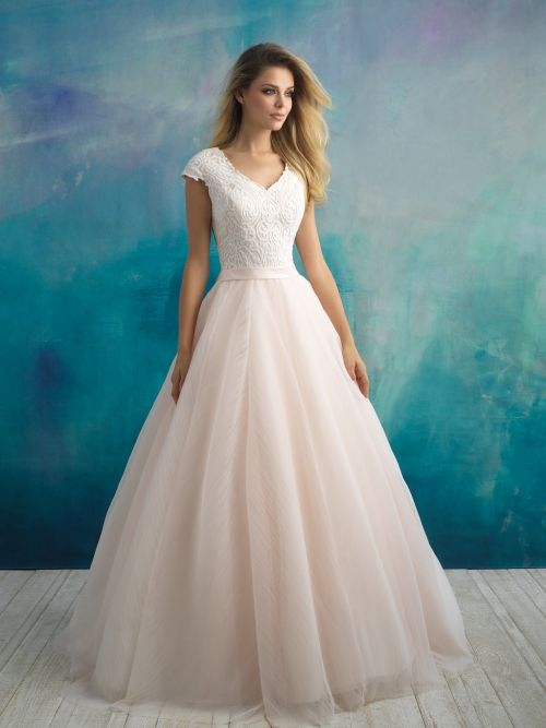 Modest Wedding Dress From Fantasy Bridal Modest Ballgown Lace