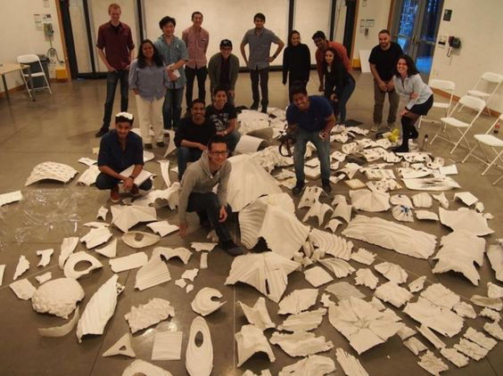 Architecture Studio Students architecture studio 5a review which showcased plaster objects