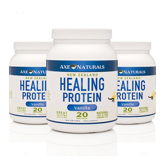 Healing Protein Vanilla 3-PACK - Free Shipping3@ $109 Dr. Axe- non-gmo milk from New Zealand cows on grass