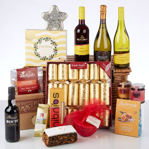 £143.75. Festive Indulgence Hamper. One of our best selling luxury Christmas hampers, offering two wines, Prosecco, Port  and an abundance of festive food treats.