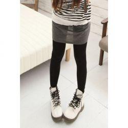 Stylish Elastic Slimming Multicolor Thicken Cotton Blend Leggings For Women