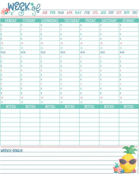 Hourly Planner Printable Daily Planner Printables Free Weekly Planner Free Printable Weekly Planner Free