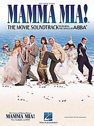 Mamma Mia The Movie Soundtrack Big Note Piano Buch Versandkostenfrei Musikfilme Filme Soundtrack