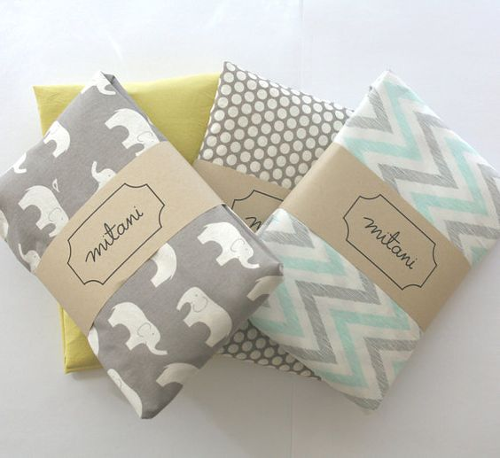 Organic cotton crib fitted sheet for boys girls by mitanidesigns