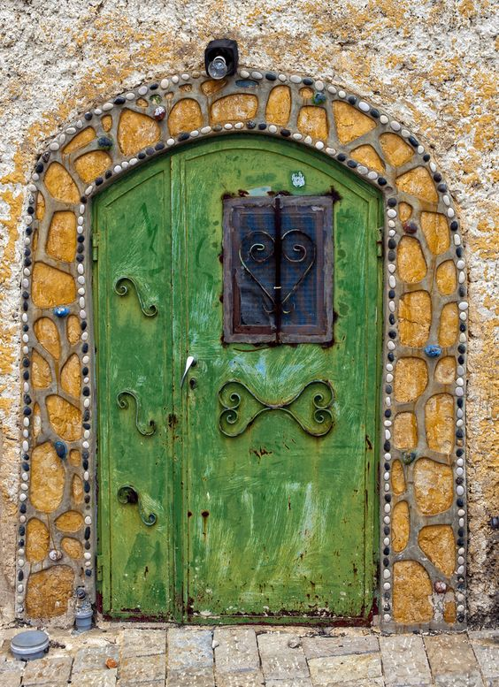 May you have many doors to choose from. May you resist the temptation to peek through the small window.  May you enjoy the chance to open them.  (By Sarah)  May you learn and grow from each and every gateway that life presents you with.