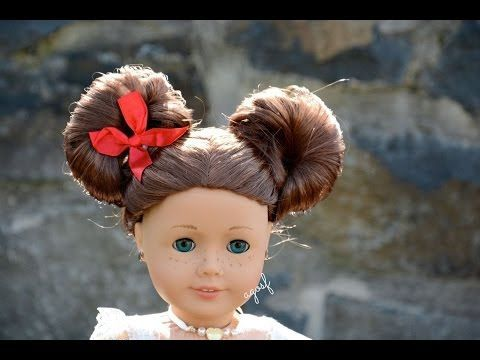 American Girl Doll Disney Hairstyle Minnie Mouse Buns Inspired By Cutegirlshairstyles American Girl Doll Hairstyles American Girl Hairstyles Disney Hairstyles