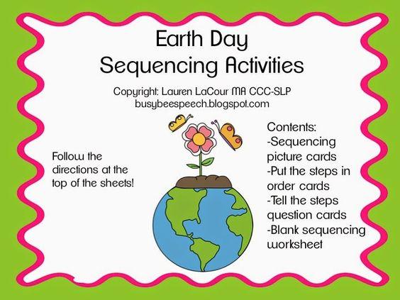 Busy Bee Speech: Earth Day Freebies!
