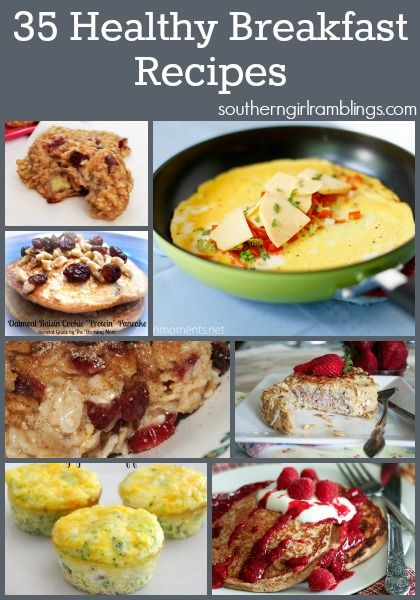 Try one of these 35 amazing healthy breakfast recipes, like the Whole Wheat Pumpkin Pancakes!!
