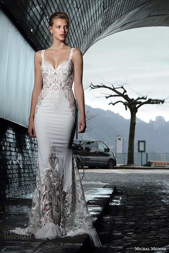 Mutual insurance wedding and spring on pinterest for Michael medina wedding dress