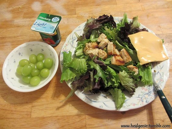 Minus the kraft slice and switch the yogurt to oikos greek yogurt and this would be an awesome post workout meal for me :)