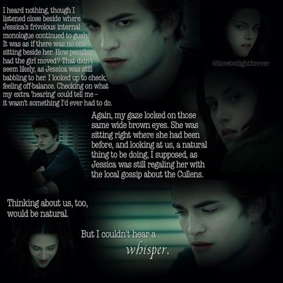 Edward S Perspective On Seeing Bella For The First Time And Not Being Able To Hear Her Mind Twilight Quotes Midnight Sun Twilight Twilight Movie