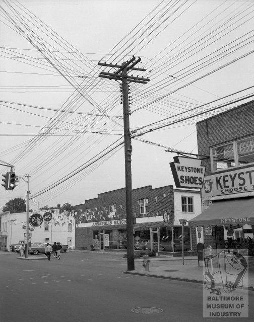 1958 View Of West Street In Annapolis Maryland From The Baltimore Museum Of Industry Annapolis Maryland Annapolis Maryland