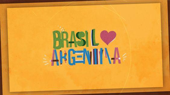 "Brasil ❤ Argentina. Mais // More www.behance.net/gallery/Brasil-Argentina/10034887  Video de 5 segundos com o tema ""Brasil ❤ Argentina"". Ins..."