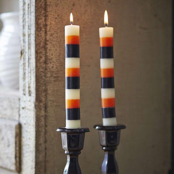 Striped Taper Candles, Set of 2 | Sur La Table
