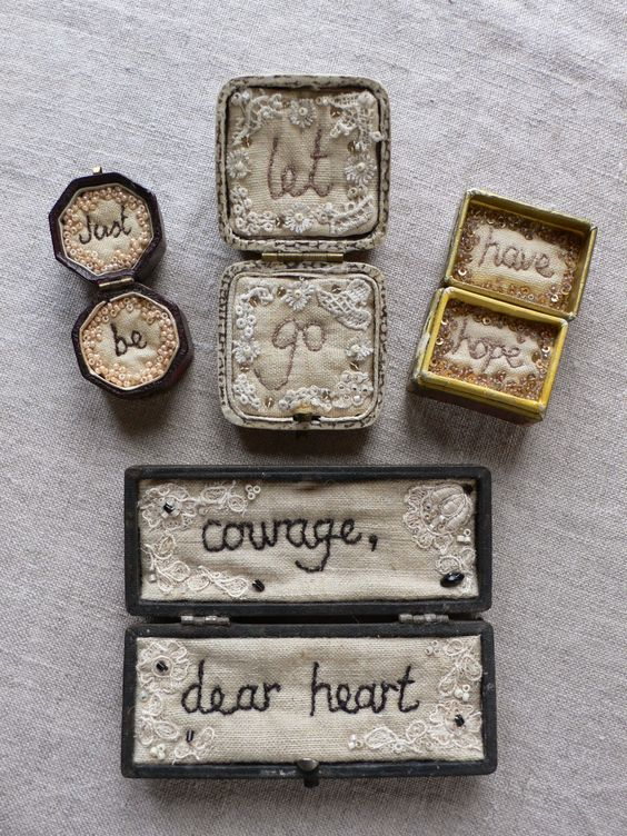 Tiny Boxed stitcheries by Gentlework