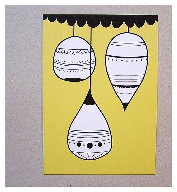 """Postkarten """"HAPPY HOLIDAYS"""" (3er Set) von Maedchenwahn - shop.HOKOHOKO.com. Postkarten (3er Set) Drei winterliche Din A6 Karten für Advents- oder Weihnachtsgrüße illustriert von Maedchenwahn. Wundervoll eingerahmt an die Wand zu hängen. - Erhältlich bei: http://shop.hokohoko.com"""
