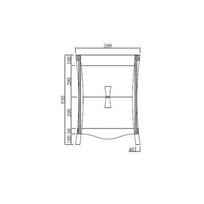 "American Imaginations Bow 23.54"" Birch Wood-Veneer Bathroom Vanity Faucet Mount:"