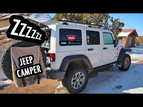 How To Sleep Camp In A Jeep Wrangler Youtube In 2020 Jeep