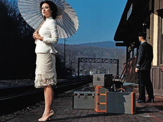 Parasol, matching Goyard, Orient Express...heaven