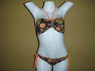 bikinis bordados | Modelo estilo mariposa con ajuste en el cuello.