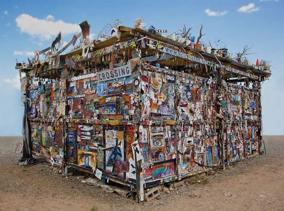 the art studio of painter Kelly Moore (the Dark Bird Palace) at the Tesuque Reservation Flea Market…. 5 miles north of Santa Fe New Mexico…more info at www.kellymoore.net