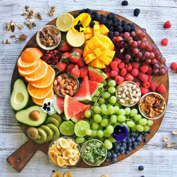 Low And High Calorie Fruits Chart