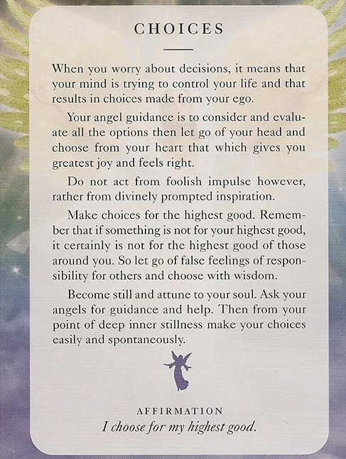 Today's Angel Card – Diana Cooper.  I remember angel cards.... ;-)  They are so cool.