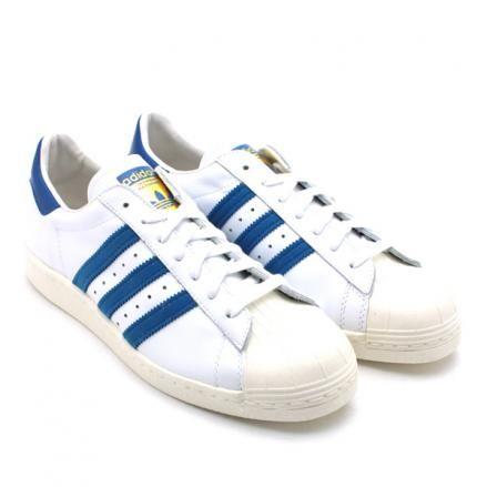 ADIDAS ORIGINALS SS 80'S WHITE/DARK ROYAL/CHALK2 #sneaker: Originals Ss, Royal Chalk2, 80 S White, Chalk2 Sneaker, Adidas Originals, Ss 80 S, Star 80 S