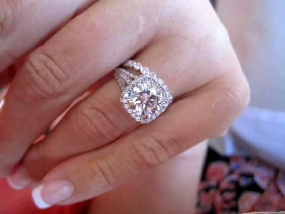 Halo, Wedding ring and Engagement rings on Pinterest