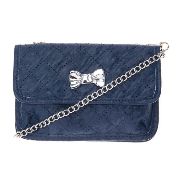 Navy Quilted Small Crossbody Bag