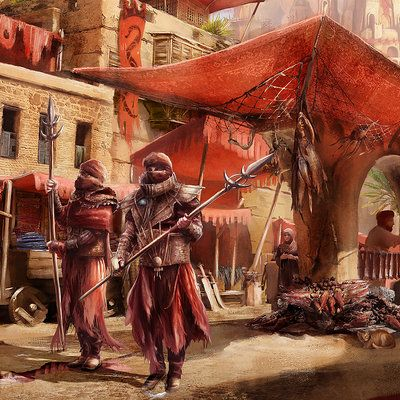 Angelique Shelley · The Umbar Market in Harad by direimpulse