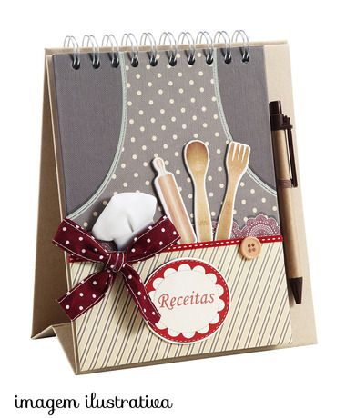 Caderno cookbook marrom