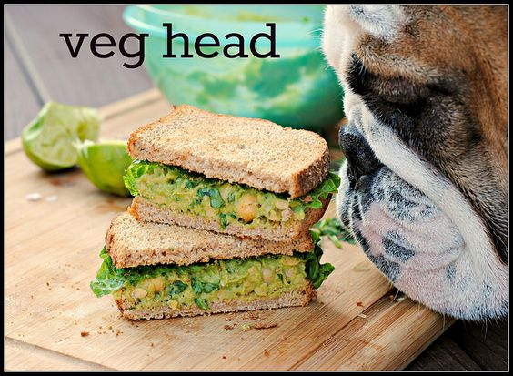 Smashed Chickpea & Avocado Salad Sandwich ***