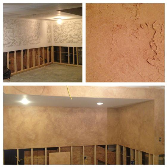 Southwestern plaster finish with mocha glaze. http://www.houzz.com/pro/creativepaintinganddesign