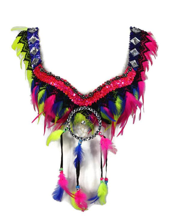 Neon Warrior Rave Bra