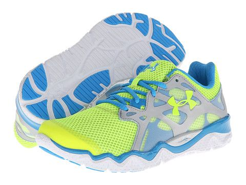 Under Armour UA W Micro G™ Monza (RE) High-Vis Yellow/Metallic Silver/Electric Blue (RE) - Zappos.com Free Shipping BOTH Ways