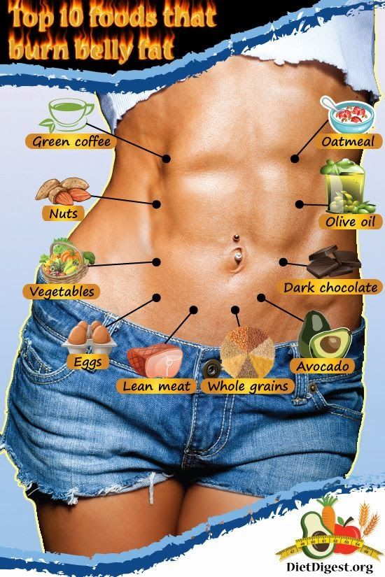 Top 10 Foods That Burn Belly Fat Infographic | Tricksly