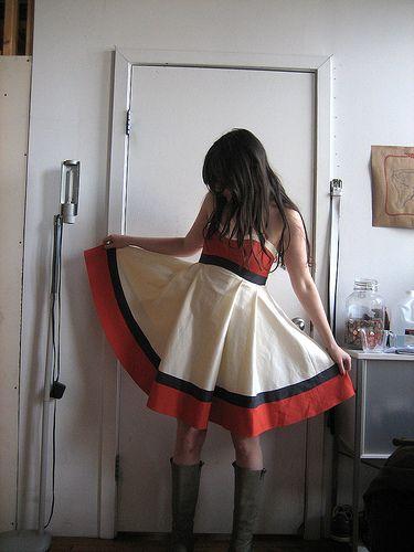 colorblocked kat dress | grainline