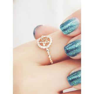 Rhinestone Star Ring from #YesStyle <3 kitsch island YesStyle.co.uk