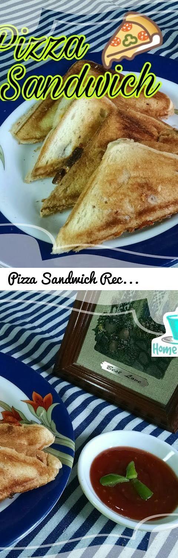 Pizza Sandwich Recipe In Urdu~Pizza Sandwich In Sandwich Maker~Cheese  Sandwich Recipe In