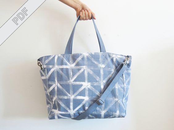 Nähanleitung Wickeltasche mit Reißverschluss von DIY Sewing Academy auf DaWanda.com