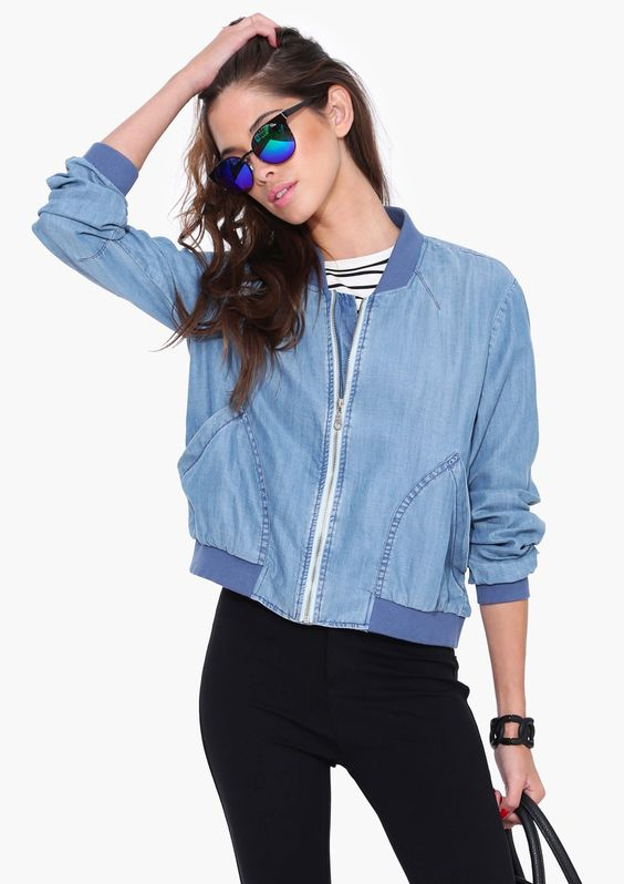 Find denim bomber jacket at ShopStyle. Shop the latest collection of denim bomber jacket from the most popular stores - all in one place.