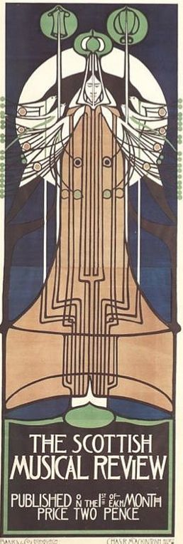 Charles Rennie Mackintosh (1868-1928) - Scottish Musical Review Poster. Circa 1895.