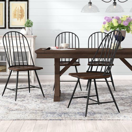 Hughley Dining Chair Dining Chairs Wayfair Living Room Chairs Solid Wood Dining Chairs