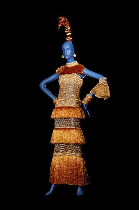 YSL Robe Bambara du soir longue Collection haute couture printemps/été 1967