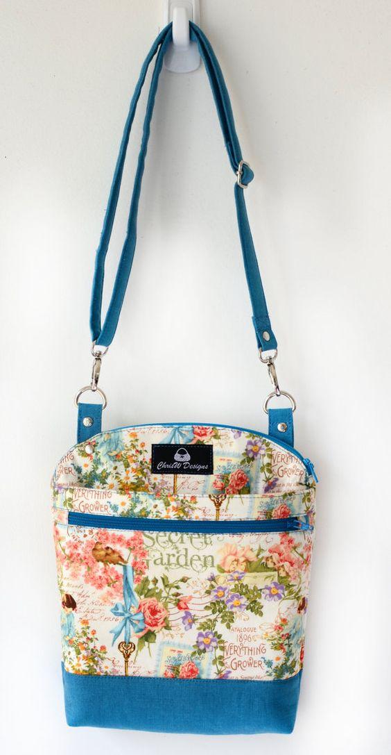 "Handbag PDF sewing PATTERN *SERENDIPITY HIP* Finished bag size = Approx. W 20cm X H 25cm X D 4.5cm. (W 8 X H 10 X D 1¾"") Difficulty = Intermediate."