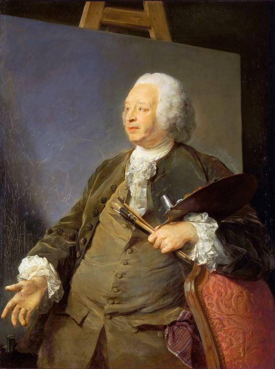 """Jean-Baptiste Oudry"",self portait trompe-l'oeil"