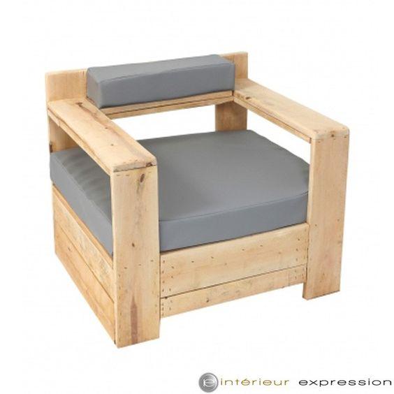 fauteuil bois brut et coussin breuil gamme eco durable. Black Bedroom Furniture Sets. Home Design Ideas